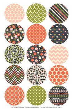 Wonderful Collection Digital Bottle Cap Images – Erin Bradley/Ink Obsession Designs