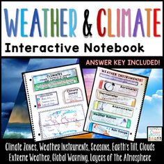 Weather Interactive Notebook Science Lesson Plans, Science Curriculum, Science Resources, Teaching Science, Life Science, Elementary Science, Teaching Resources, Teaching Ideas, Science Notebook Cover