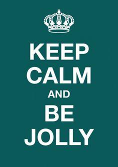 Kerst - ansichtkaart - Keep calm and be jolly KC040
