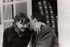 "audreylostinparis: "" Anna Karina and Jean - Luc Godard """