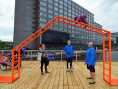 New 'Kalvebod Waves' Waterfront Park Makes a Splash in Copenhagen! Park Playground, Playground Design, Outdoor Playground, Outdoor Gym, Outdoor Workouts, Outdoor Travel, Temporary Architecture, Landscape Architecture, Outdoor Fitness Equipment
