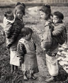Children of the countryside. 1914-18, Japan. Image via A. Davey of Flickr
