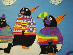 Tacky the penguin art idea - Jacob would love this since Tacky the Penguin is currently his fav book! Tacky The Penguin, January Art, First Grade Art, Polo Norte, Penguin Art, Winter Art Projects, Inspiration Art, Ecole Art, Kindergarten Art