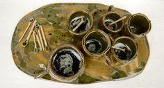 Centro tavola di gres, design by Atelier Daniela Levera, centro de mesa en gres diseño made in italy, pieza única, center piece $150