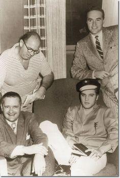 Elvis Presley with Colonel Parker - October 5, 1956 (Las Vegas press conference)