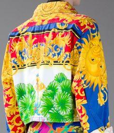 Gianni Versace Vintage Print Jacket