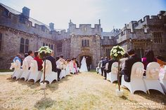 Inner Courtyard Ceremonies, St Donat's Castle | www.atlanticcollege.org/venue-hire