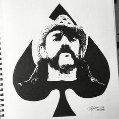 #lemmy @officialmotorhead #motorhead #aceofspades #sulbone #rocknroll #music #art #artist #draw #drawing #sketch #sketchbook #noir #ink #pen