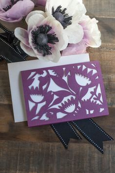 Floral cut-out card by Lia Griffith. Receive exclusive Lia Griffith content to make amazing projects like this when you get a Cricut Explore Air at Michael's! #CricutEverywhere