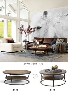 @potterybarn Bartlett Reclaimed Wood Coffee Table $999 vs @wayfair  Nartina Coffee Table $400