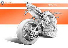 future bike, Arac ZXS, Motorcycle, Mako Petrovic, Ducati, bike concept, Italian Ducati, safe drive system, supersports