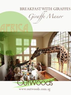 Redefining Adventure!! #SouthAfrica Moments! Breakfast with giraffes at Giraffe Manor, Nairobi, SA.  We at Outwoods customise holidays to pamper your adventure thirst!! We define ourselves with a belief of going above-and-beyond in myriad ways, such that no journey is complete without that an unexpected, unique & unforgettable experience!  All you need to do is ask!  So don't wait, get in touch right away! For queries write to us at info@outwoods.com.sg  Website: www.outwoods.com.sg