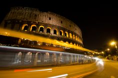 Fun photo of the Colosseum through a passing bus, part of my Italy photos at http://www.goseewrite.com/2012/05/italy-photography-photo-journey/
