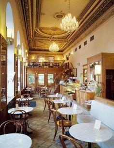 Cafe Savoy in Prague. It's always busy, serving great French and Czech food Prague Apartment, Prague Travel, London Travel, Café Bar, Prague Czech Republic, French Cafe, Cafe Design, Diy Design, Eurotrip