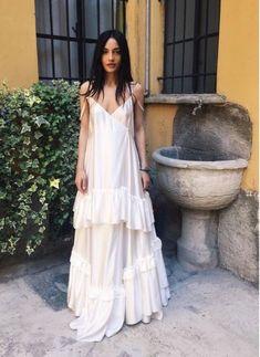 Such a cozy & stylish long white dress! Dress Skirt, Dress Up, Tank Dress, Look At You, Mode Inspiration, Fashion Outfits, Womens Fashion, Dress Fashion, Spring Summer Fashion