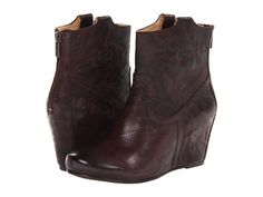 Frye Carson Wedge Bootie Cognac Antique Soft Full Grain - Zappos.com Free Shipping BOTH Ways