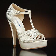 DAVID TUTERA WONDERFULWedding Shoes and WONDERFUL Dyeable Bridal Shoes WHITE, IVORY: