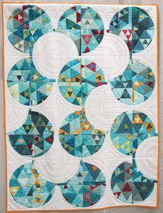 Funky Junk by Renee Tallman. Made from a pieced top that was cut up and re-pieced.