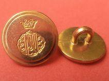 6 Metallknöpfe gold 13mm(4651)kleine Knöpfe Metall