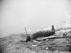 Crashed British fighter plane 1944