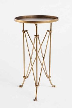 Furnishings and Decor: Metal Accordion Side Table - Urban Outfitters