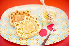 Hello Kitty Waffles!