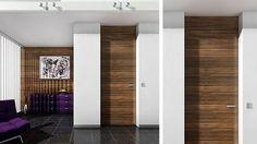 Floor-to ceiling, jamb integrated in wall, american walnut - CT28 - modern - windows and doors - miami - Bartels Exclusive Designer Doors