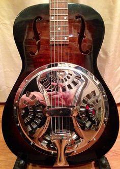 Vintage 1930s Dobro Regal Round Neck Resonator Guitar