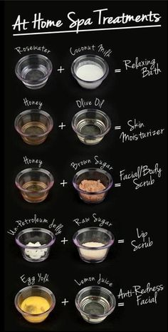 DIY at home Spa Treatments. Good stress relievers