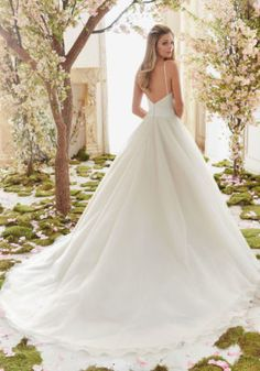 Mori Lee Bridal Madeline Gardner Beautiful Duchess Satin and Tulle Ball Gown Wedding Dress | Morilee