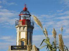 Faro de Higer, en Hondarribia pueblo costero de Gipuzkoa en el Pais Vasco
