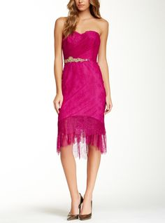 Marchesa | Marchesa Notte Strapless Lace Cocktail Dress | Nordstrom Rack