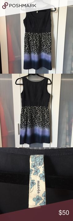 Anthropologie Maeve 100% Silk Ombré Dot Dress - S Anthropologie Maeve Ombré Dotted Dress in Size small.  100% Silk dress.  Side zip.  Perfect with a blazer for work or just for fun!  Offers welcomed Anthropologie Dresses Mini