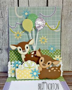 Crafting While I Wait: Birthday Deer Pop~Up