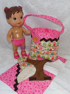 Baby Alive Diaper Bag Set with Reusable by thatssewholly on Etsy