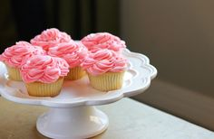 Vanilla Bean Cupcakes with Strawberry Buttercream- My Cooking Spot