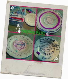Christmas Plates: Gift Idea For The Grandparents  http://thehomeschoolhive.blogspot.com/