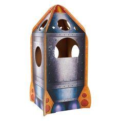Casetta di cartone per bambini Navicella Spaziale colorata, resistente, giochi e divertimento assicurato per i vostri bambini che si sentiranno dei veri astronauti.