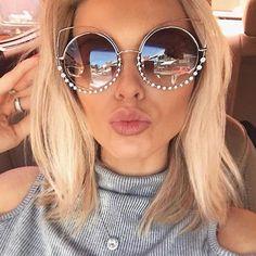 eed0d5a93d 2017 Fashion Sexy Cat Eye Sunglasses Women Coating Reflective Mirror Diamond  Decoration Glasses Female Shades UV400