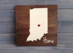 Pick Colors, Indiana Wood Sign, Custom Indiana State Sign, Stained Hand Painted, Personalize, Indiana decor, Indiana sign, Indiana guestbook by RusticStrokes on Etsy https://www.etsy.com/listing/200346042/pick-colors-indiana-wood-sign-custom