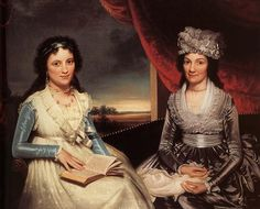 """""""Mother and Her Daughter,"""" by Ralph E. W. Earl ca. 1790 - gorgeous detail on the clothes"""