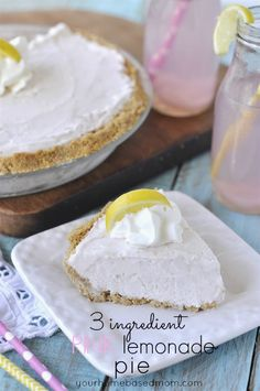 3 Ingredient Pink Lemonade Pie - your homebased mom