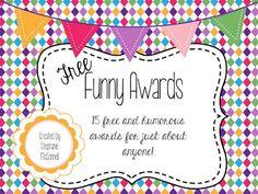 humorous awards ideas certificates funny award ideas