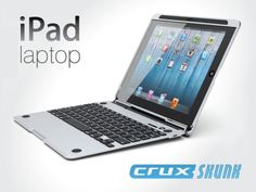 Cruxskunk™ turns your Ipad® into a powerful laptop