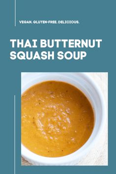 This gluten-free, dairy-free vegan sweet potato soup recipe is perfect any night of the week! friendly, vegan, and delicious! Delicious Dinner Recipes, Vegan Recipes Easy, Soup Recipes, Free Recipes, Chicken Recipes, Thai Butternut Squash Soup, Sweet Potato Soup, International Recipes, Easy Cooking