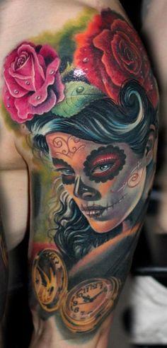 DIA De La Muerte Tattoos | Jaime Mouse Lopez Santa