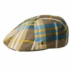 Kangol Men's 100% Cotton Flat Cap Plaid 504 Hat Cap Beret Beanie #Kangol #Beret Kangol Caps, Mens Gear, News Boy Hat, Flat Cap, Sharp Dressed Man, Cool Hats, Mens Caps, Men Looks, Beret