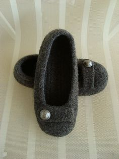 cute felting slipper pattern