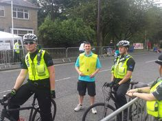 Tweeted by @mogbad - #TDF2014 #tdfpolicepics with tour makers #tdfholmfirth