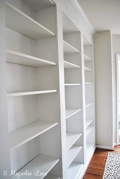 How To Build DIY Built In Bookcases From IKEA Billy Bookshelves - Diy built in bookshelves